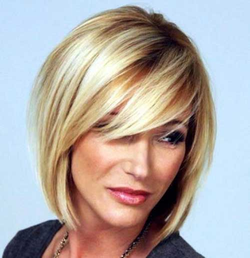 Short Hairstyles Side Fringe for Fine Straight Hair-10