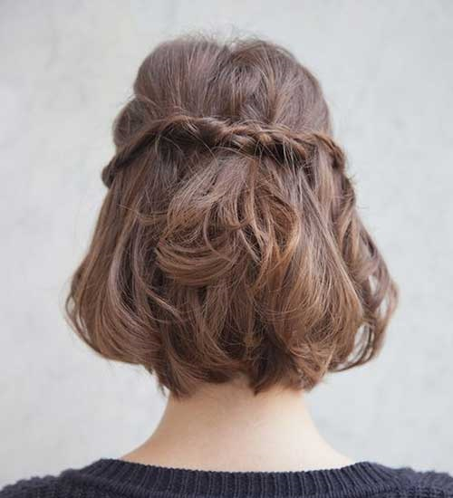 Cute Twisted Braided Hairstyles for Short Hair-10
