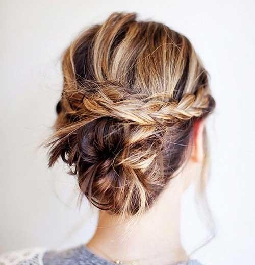 Cute Easy Braided Hairstyles for Short Hair-11