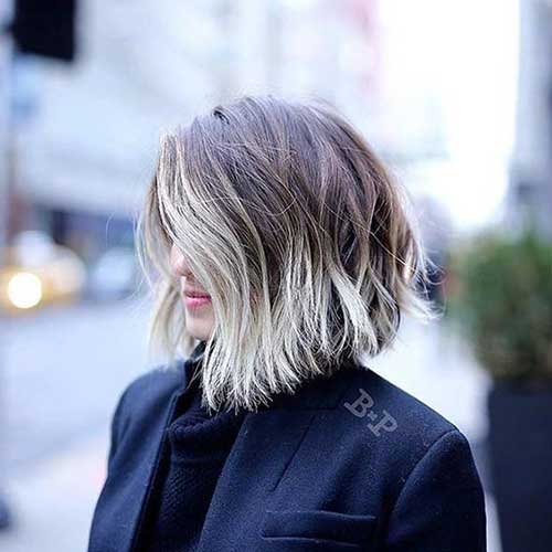 Best Long Bob Highlighted Haircuts-13