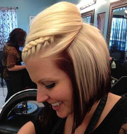 Cute Quick Braided Hairstyles for Short Hair-13