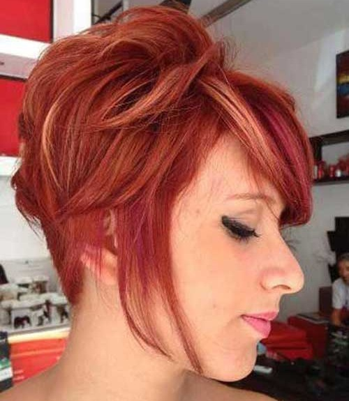 Red Hair Colors for Short Hair-13
