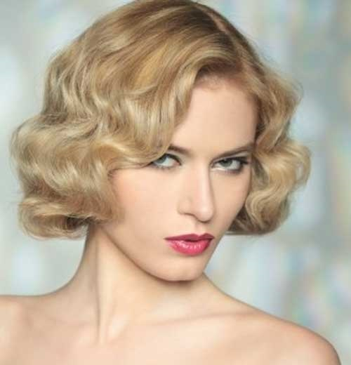 Vintage Bridal Hairstyles for Short Hair Updos-13