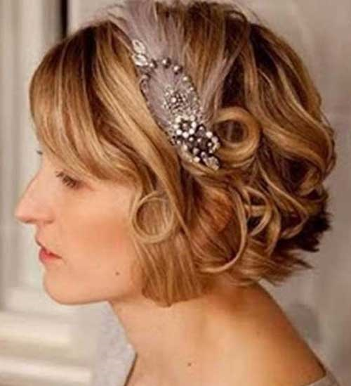 Easy Bridal Hairstyles for Short Hair Updos-14