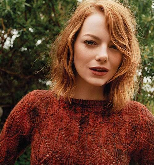 Emma Stone Long Bob Haircuts-14
