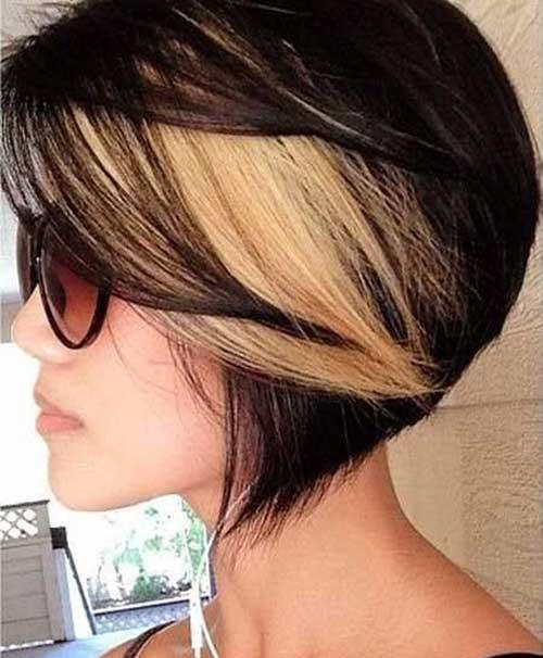 Trendy Hair Colors for Short Hair-14