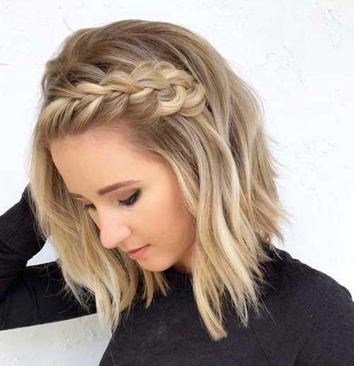 Cute Braided Hairstyles for Short Hair Bangs-15