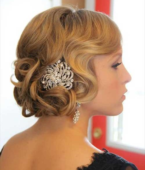 Bridal Hairstyles Accessory for Short Hair Updos-15