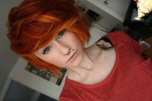Orange Hair Colors for Short Hair-15