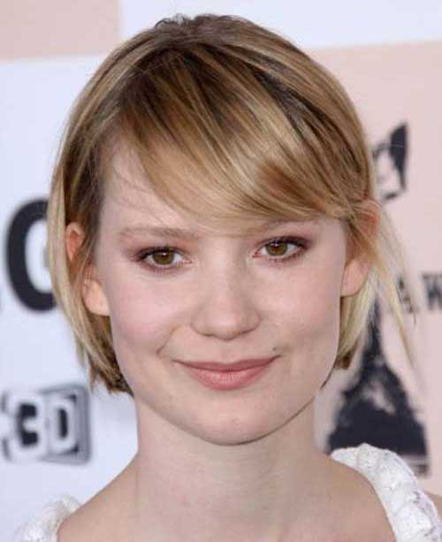 Cute Short Hairstyles for Fine Straight Hair-16