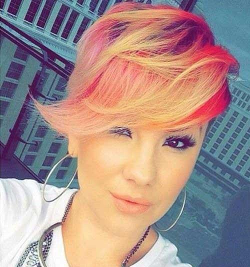 Trendy Hair Colors for Short Hair-17