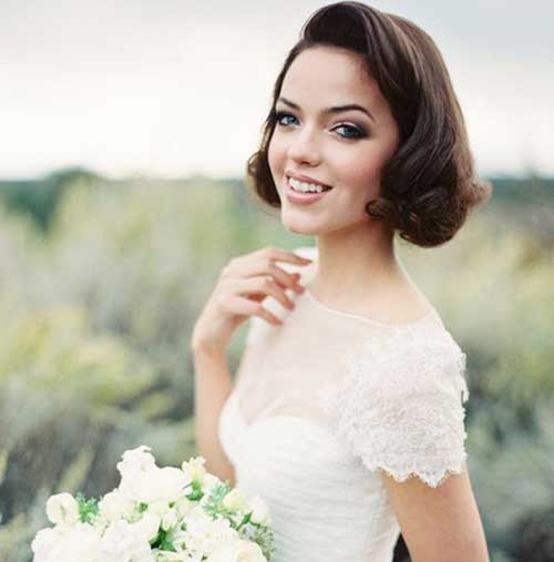 Classy Bridal Hairstyles for Short Hair Updos-6