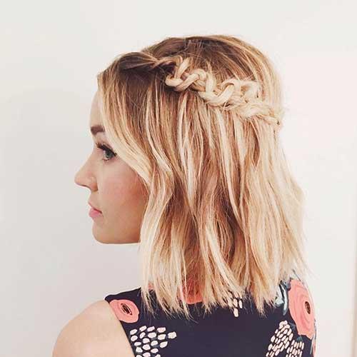 Cute Braided Hairstyles for Short Hair-7