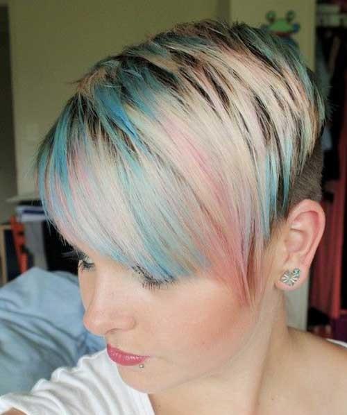 Trendy Multi Hair Colors for Short Hair-7