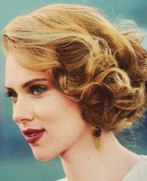 Curly Bridal Hairstyles for Short Hair Updos-8
