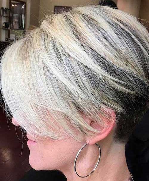 Trendy Short Hairstyles for Fine Straight Hair-9