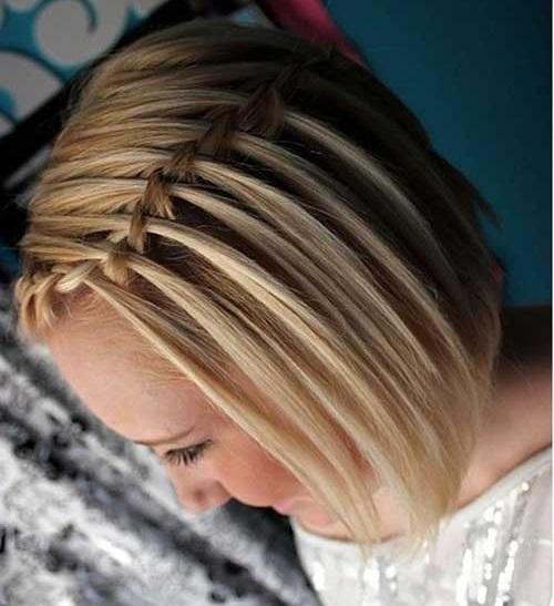 Cute Waterfall Braids Hairstyles for Short Hair-9
