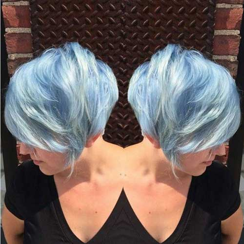 Short Hair Cool Colors