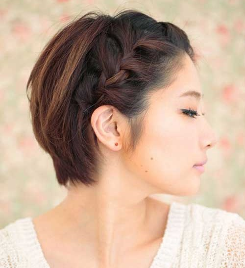 Braid Crown Updo Hairstyles for Short Hair-10