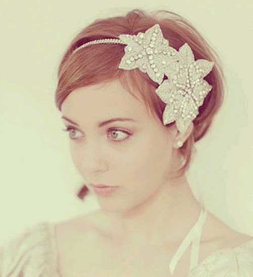 Wedding Flapper Hairstyles for Short Hair Updos-10