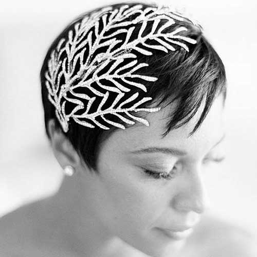 Wedding Headpiece and Hairstyles for Short Hair Updos-11