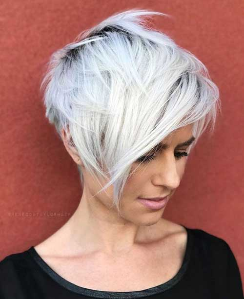 Layered Long Bangs Pixie Cut Styles-12