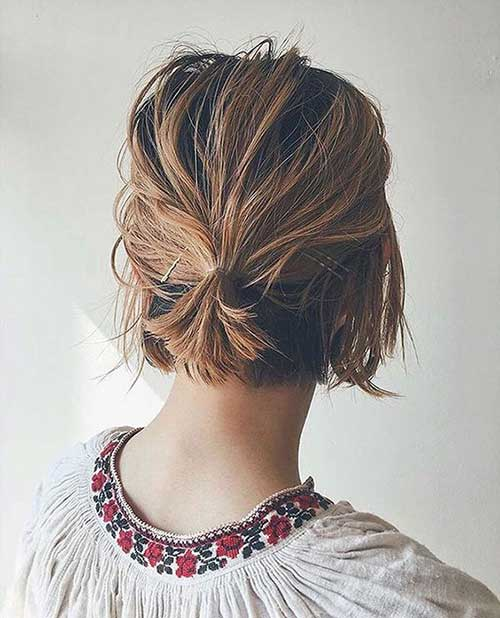 Easy Updos for Short Hair-12