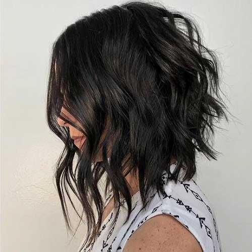 A Line Medium Short Hairstyles-13