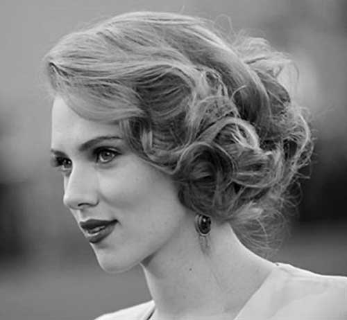 Scarlett Johansson Wedding Hairstyles for Short Hair Updos-13