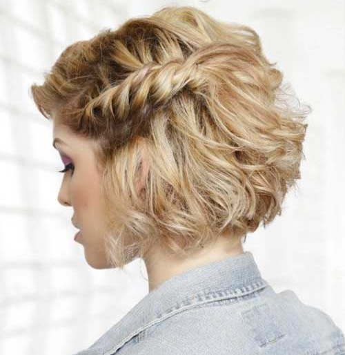 Side Braids Updo Hairstyles for Short Hair-13