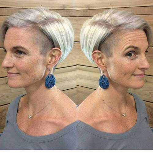 Short Undercut Haircuts for Ladies Over 60-13