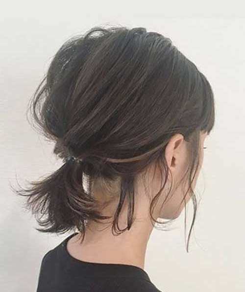 Easy Messy Updos for Short Hair-13