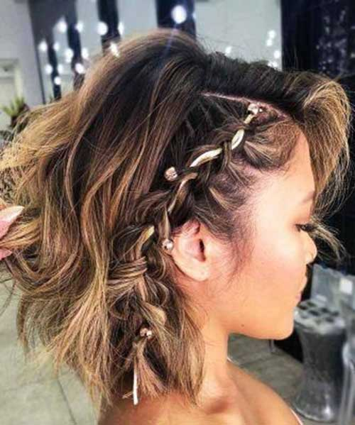 Cute Easy Braids for Short Hair-14