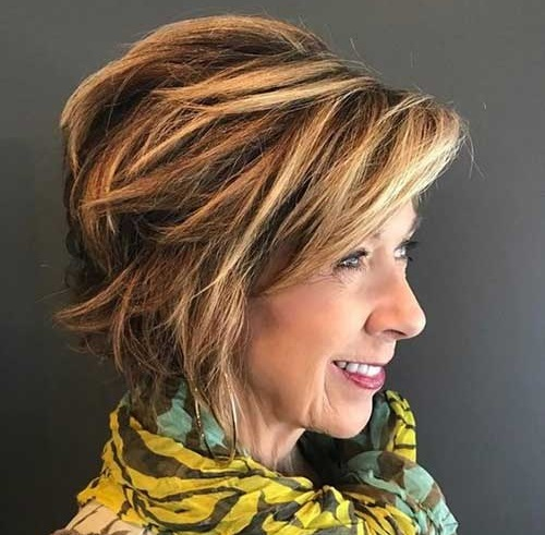 Short Choppy Highlighted Hairstyles for Women-14