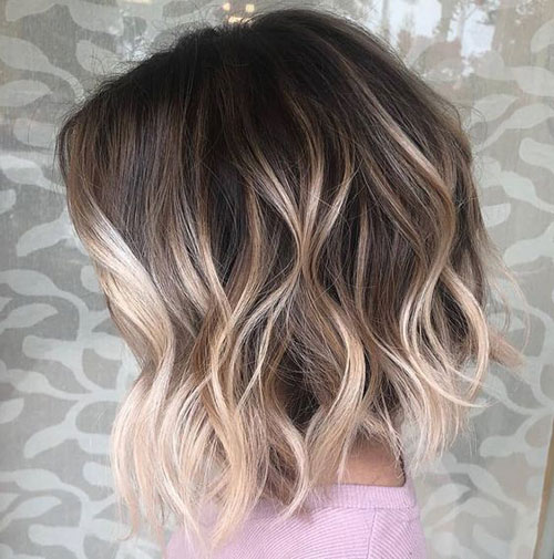 Medium Short Hairstyles with Highlights-14