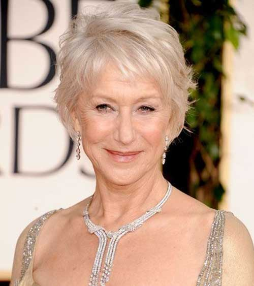 Short White Blonde Haircuts for Women Over 50-14