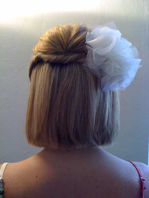 Simple Wedding Hairstyles for Short Hair Updos-14