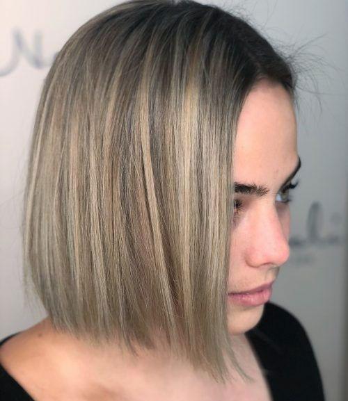 Blonde Balayage Bob Hair Cut-15