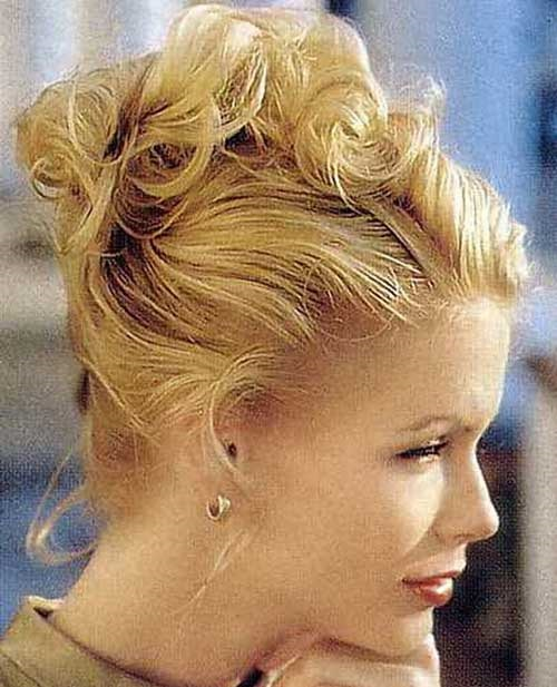Cute Wedding Hairstyles for Short Hair Updos-15