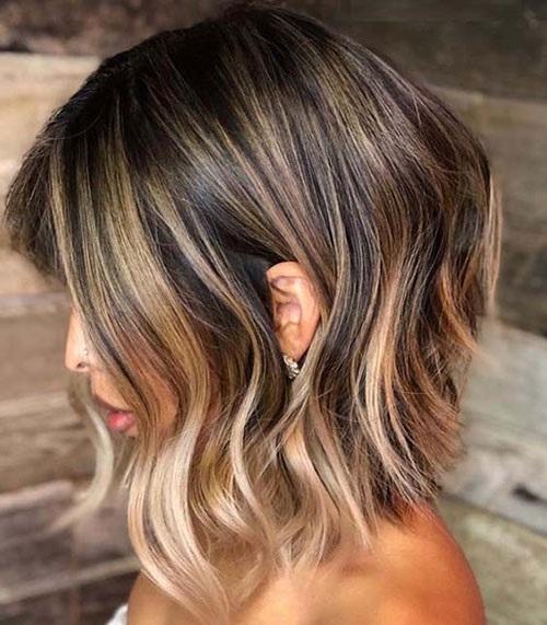 Medium Short Hairstyles for Brunettes-15
