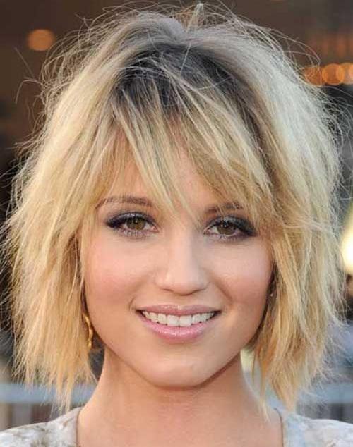 Short Choppy Side Bangs Hairstyles for Women-16