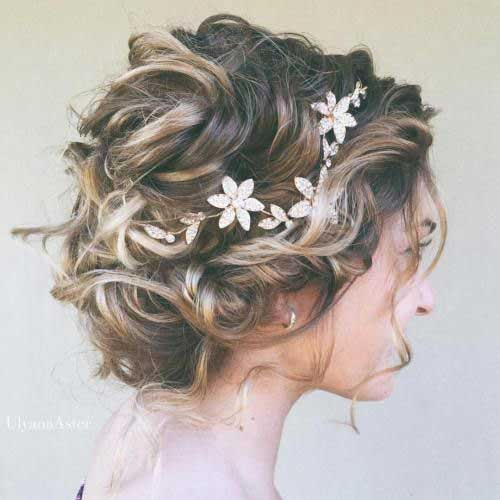 Wedding Updo Hairstyles for Short Hair-16