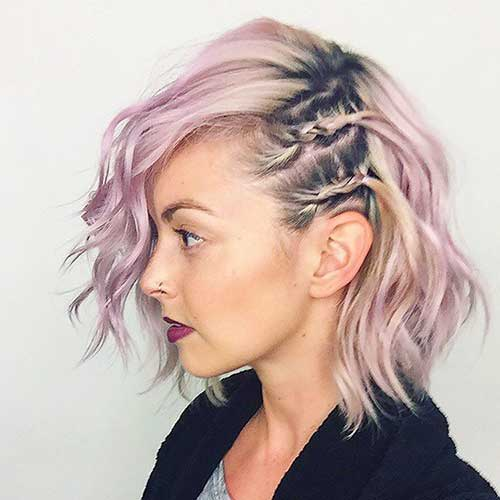 Easy Braids for Side Swept Bob