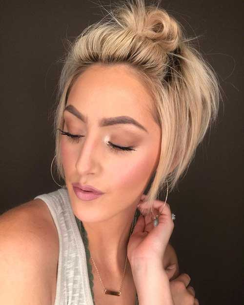 Easy Updos for Cute Pixie Bob Hair-16