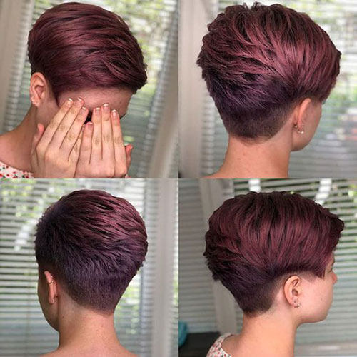 Dark Red Pixie Cut Styles-17