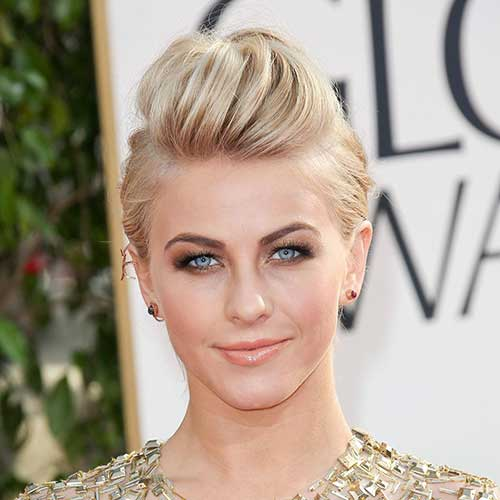 Julianne Hough Updo Hairstyles for Short Hair-17