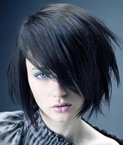 Short Razored Choppy Hairstyles for Women-17