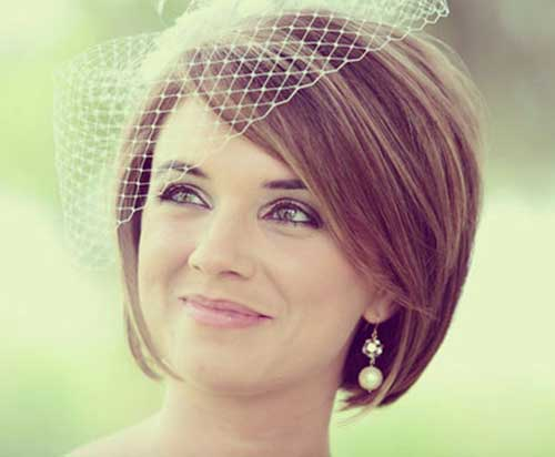 Wedding Veil Hairstyles for Short Hair Updos-17