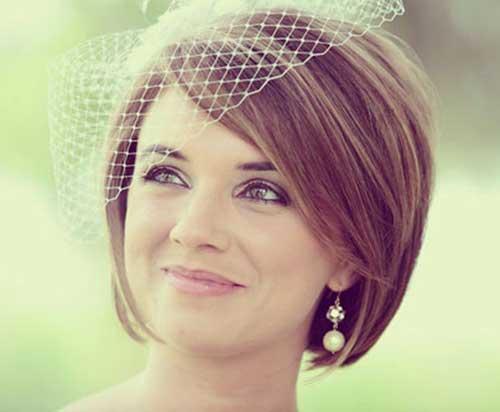 Wedding Veil Hairstyles for Short Hair Updos-17
