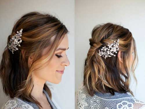 Easy Updo Hairstyles for Short Hair-18